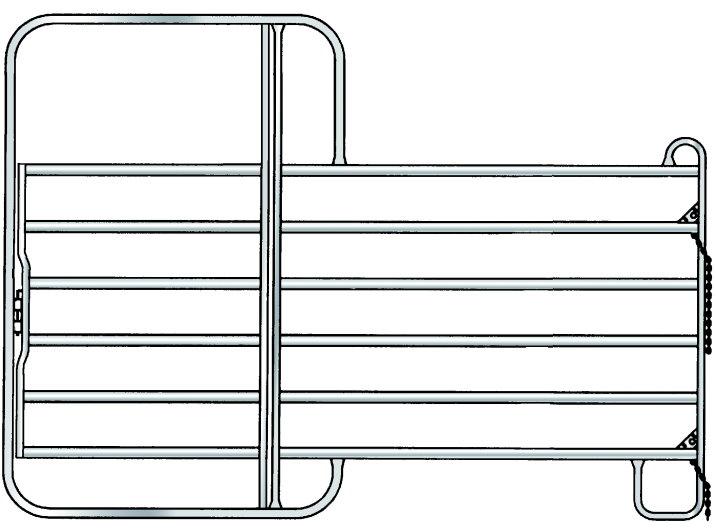 Panel Panels 3,00 Meter m.Tor Zaunelement Pferdebox Pferd Box Weidepanel