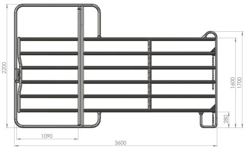 Pferd Box Weidepanel Panel Panels 3,00 Meter m.Tor Zaunelement Pferdebox