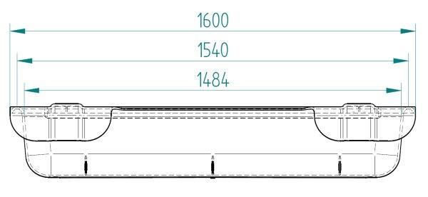 Langtrog 120 Liter 160cm Futtertrog Langfuttertrog Futterkrippe zum Einhängen